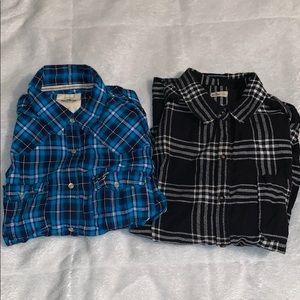 2 Hollister flannels